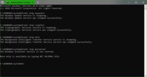 Windows Update Error Code 80244019 CMD