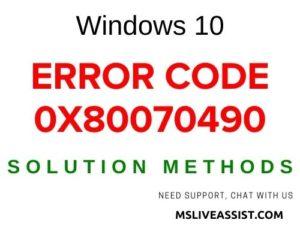 [Fixed] How to fix Windows 10 Error Code 0x80070490 - MS ...