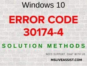 Error code 30174-4